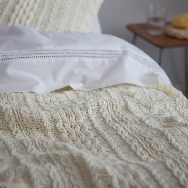 Bílý pléd Chamonix, 130x170 cm