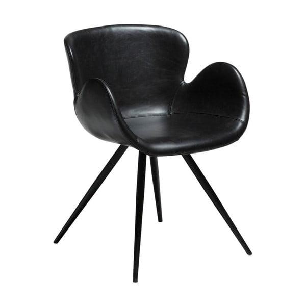 Czarne krzesło ze skóry ekologicznej DAN-FORM Denmark Gaia