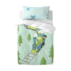 Dětské povlečení z čisté bavlny Happynois Train, 100x 120cm