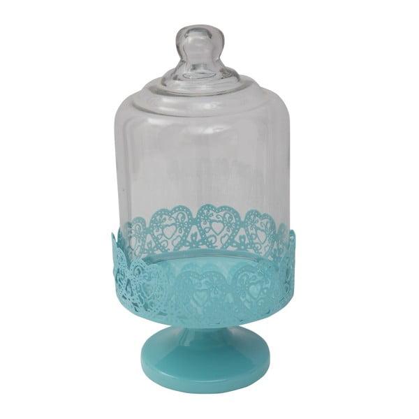 Kék tálaló állvány üvegfedéllel, ø 13,5 cm - Mauro Ferretti