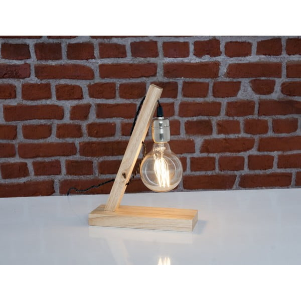 Dřevěná stolní lampa Sergio