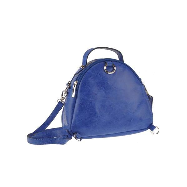 Modrá kožená kabelka Men