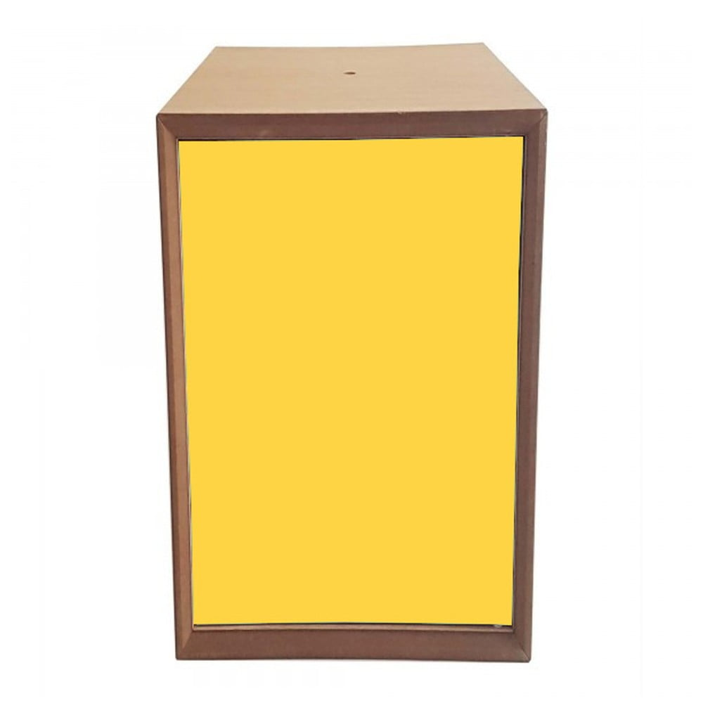 Policový díl se žlutými dvířky Ragaba PIXEL, 40 x 80 cm