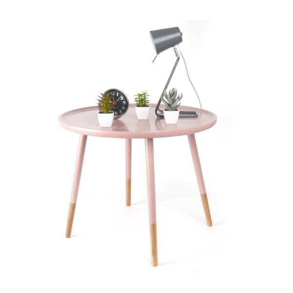 Măsuță din lemn Leitmotiv Graceful, roz