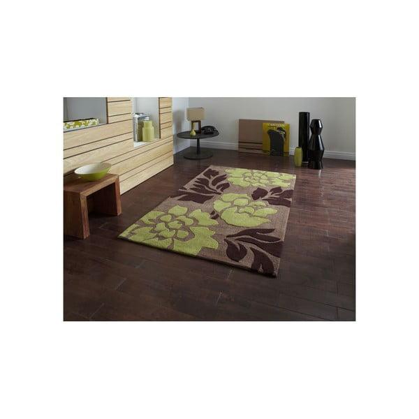 Koberec Hongkong Brown Green, 90x150 cm