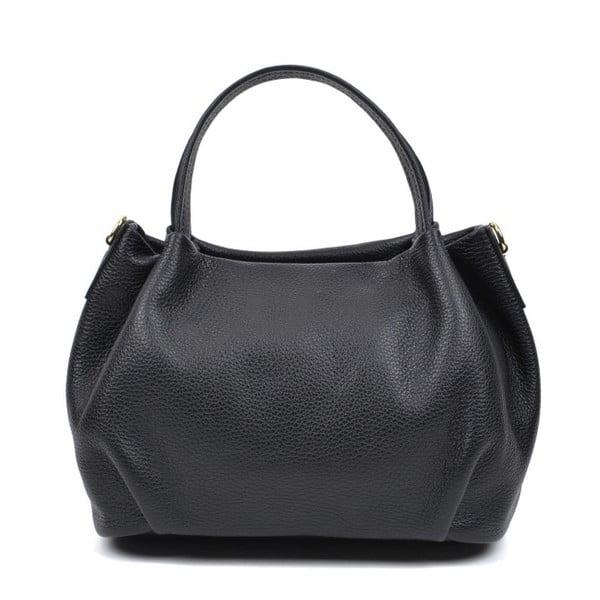 Černá kožená kabelka AnnaLuchini Molly
