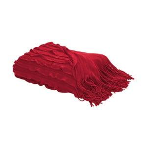 Pléd s třásněmi 127x152 cm, červená