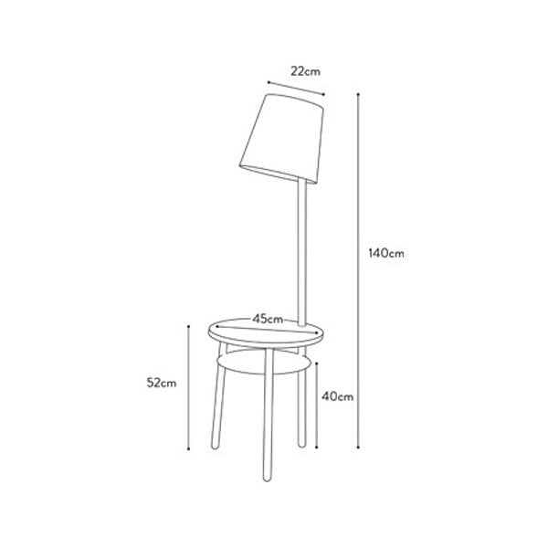 Červená stolní lampa z jasanového dřeva HARTÔ Josette
