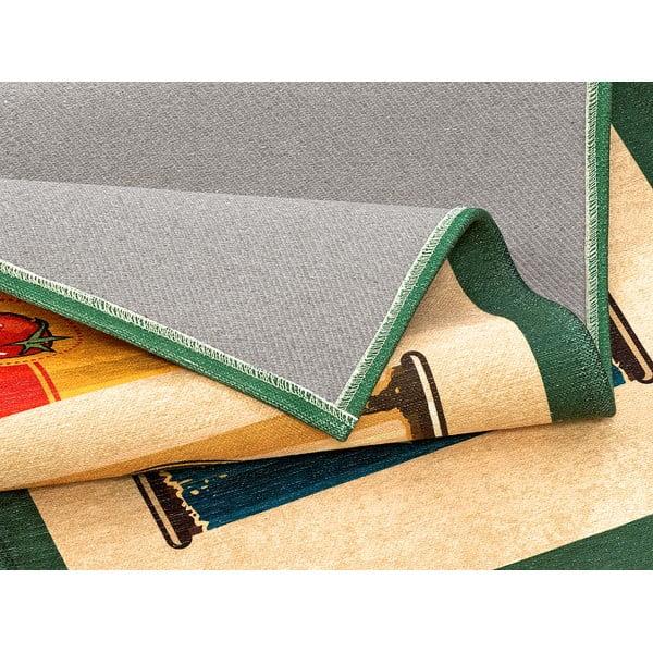 Vysoce odolný kuchyňský koberec Webtappeti Olive Oil & Co.,60x115cm