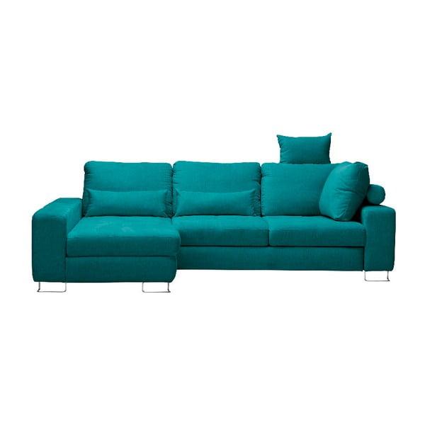 Canapea colţar Windsor & Co Sofas Alpha, partea stângă, turcoaz