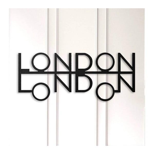 Černá kovová nástěnná dekorace London