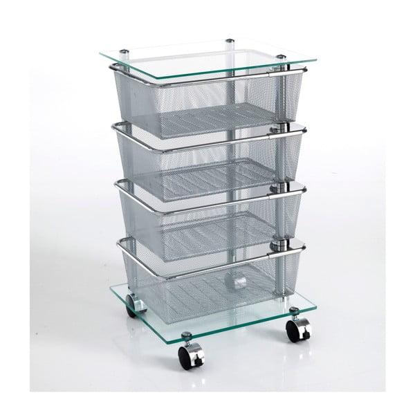 Wózek na kółkach z 4 szufladami Tomasucci Raul