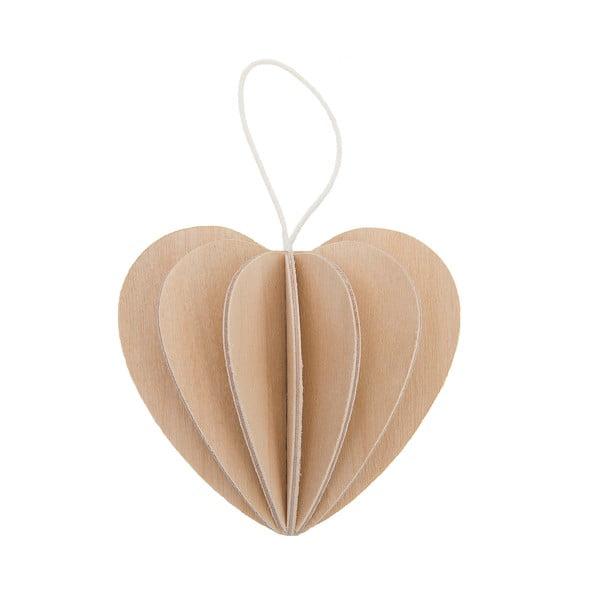 Skládací pohlednice Heart Natural, 6.8 cm