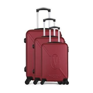 Sada 3 vínových cestovních kufrů na kolečkách VERTIGO Cadenas Integre Moues