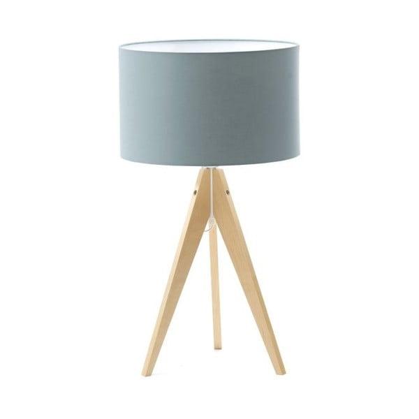 Světle modrá stolní lampa Artist, bříza, Ø 33 cm
