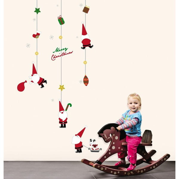 Vánoční samolepky Ambiance Fathers Christmas Toys