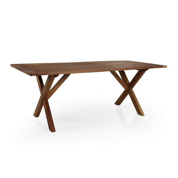 Hnědý zahradní jídelní stůl Brafab Arizona, 200x90cm