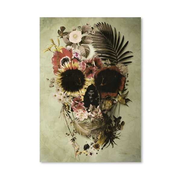 Autorský plakát Garden Skull Light