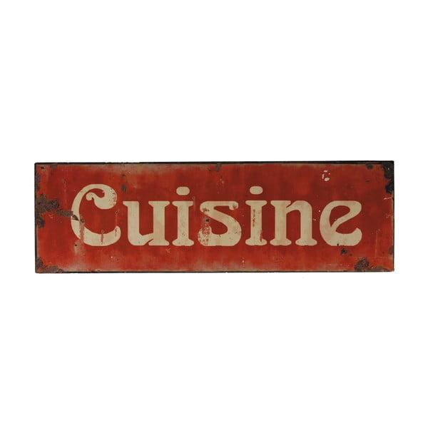 Cuisine fém tábla, 49 x 15 cm - Antic Line
