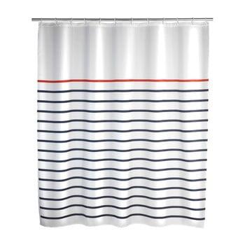Perdea de duș Wenko Marine White, 180 x 200 cm imagine