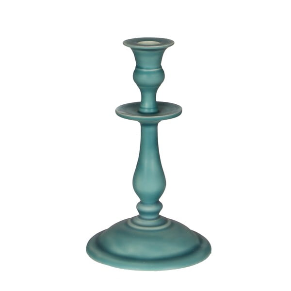 Svícen Puglia Turquoise, 20 cm