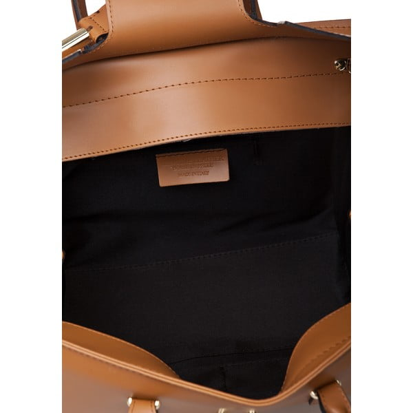 Kožená kabelka Markese 5156, koňak