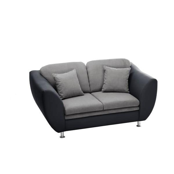 Canapea cu două locuri Florenzzi Maderna Anthracite/Light Grey