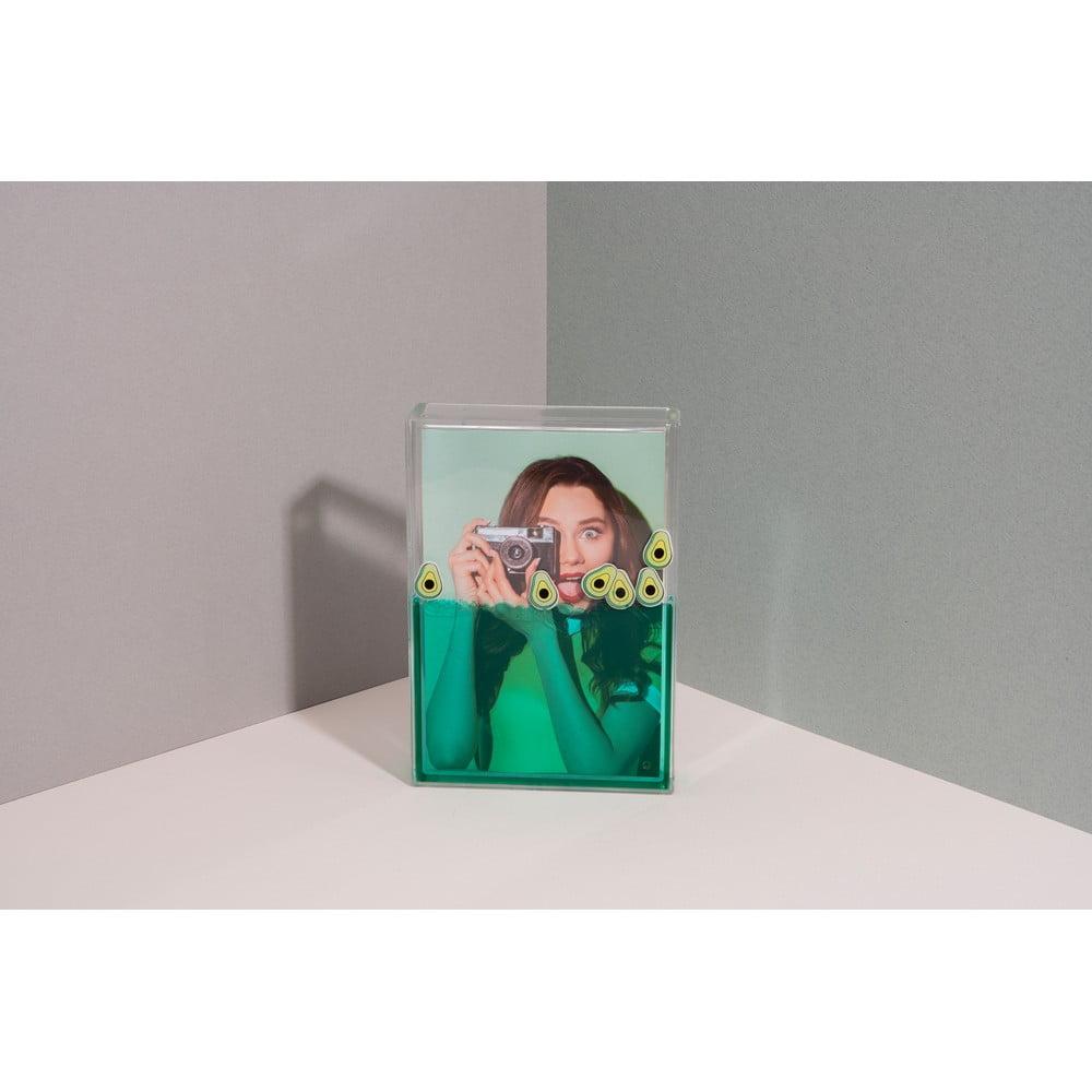 Zelený vodní fotorámeček DOIY Avocado, 11 x 16 cm