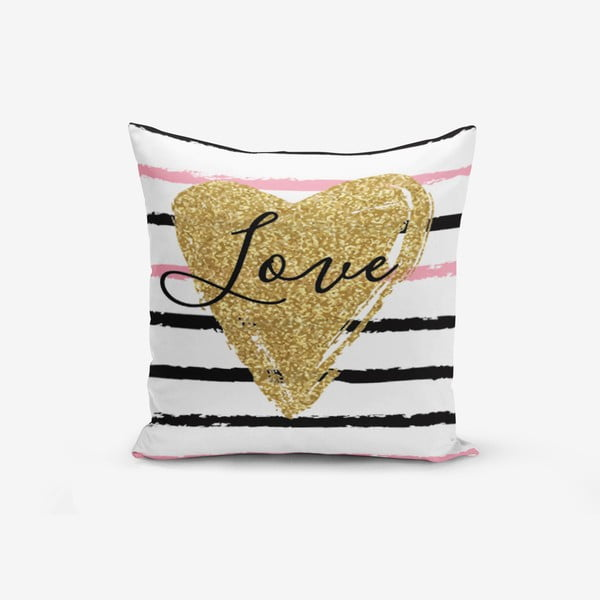 Poszewka na poduszkę z domieszką bawełny Minimalist Cushion Covers Moderni, 45x45 cm
