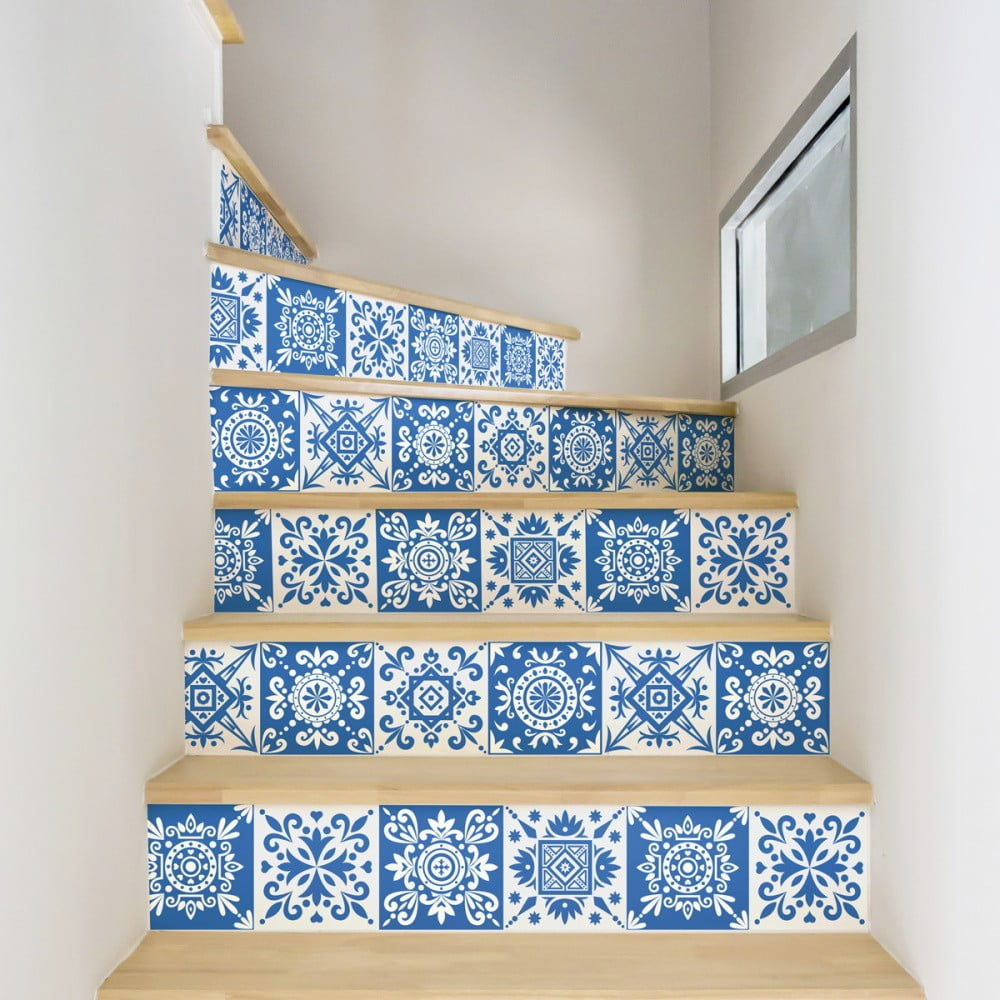 Sada 2 samolepek na schody Ambiance Ambra, 15 x 105 cm