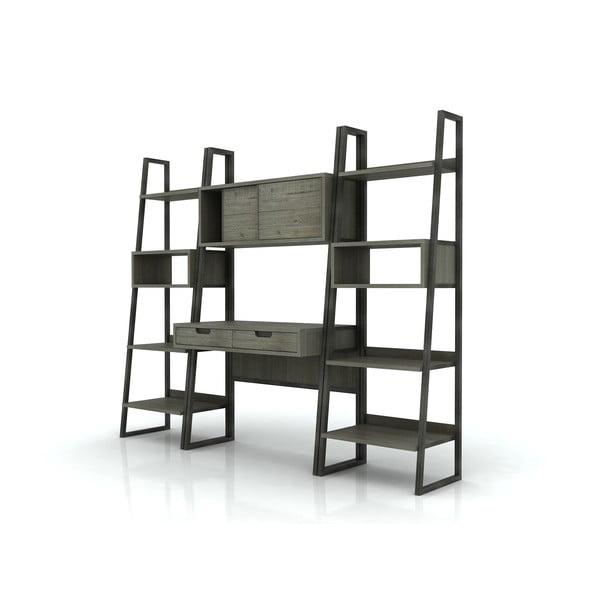 Pracovní stůl se 2 zásuvkami a úložným prostorem z akáciového dřeva Livin Hill Flow, 180 x 100 cm