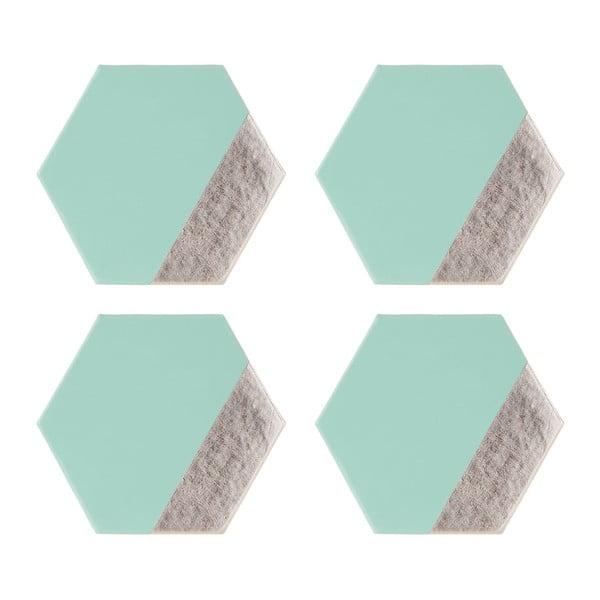 Sada 4 koženkových podtácků Premier Housewares Meda, 10 x 11 cm