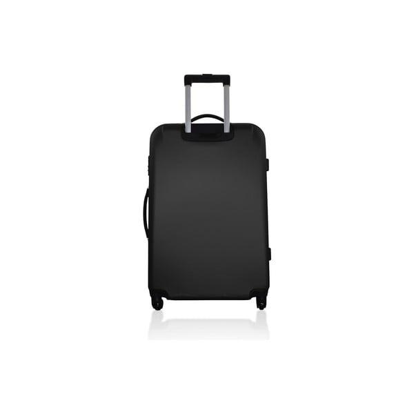 Sada 3 cestovních zavazadel Valises Avec Simple Black