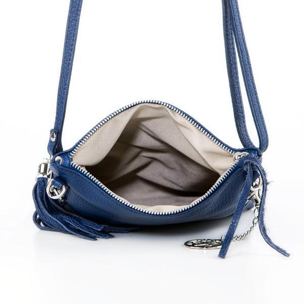 Kožená kabelka Roberto, tmavě modrá