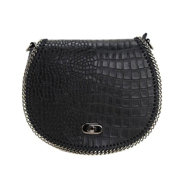 Kožená kabelka Valentina Nero
