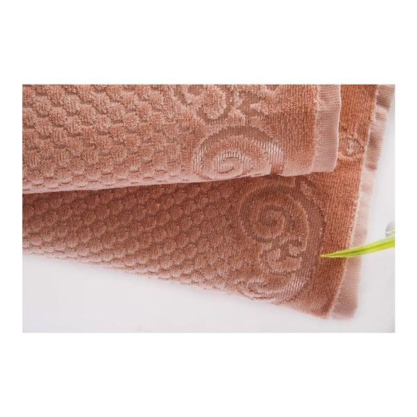 Sada 2ks ručníků Acustic Salmon, 50x90 cm a 70x140 cm