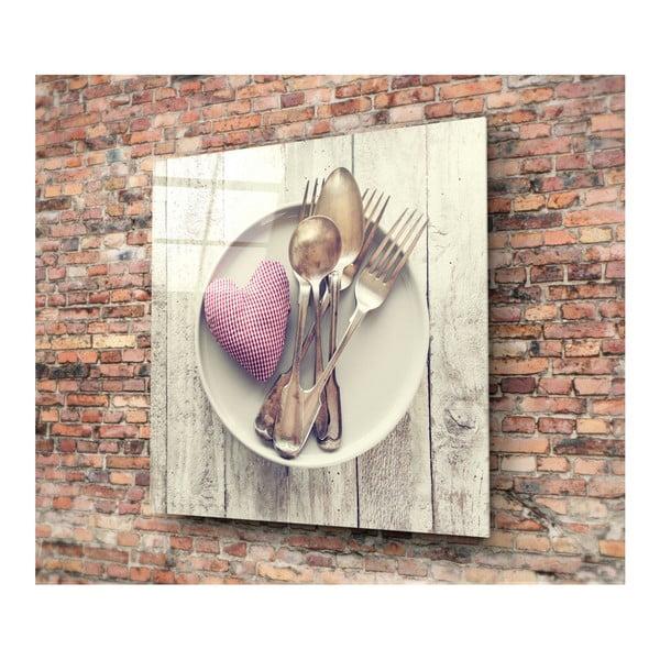 Magnia üvegkép, 40x40cm - 3D Art