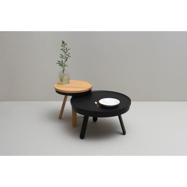 Černý odkládací stolek s úložným prostorem Woodendot Batea M