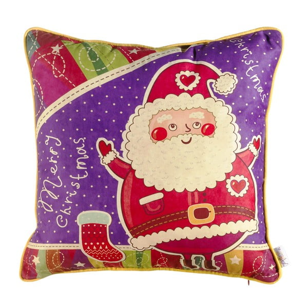 Vianočná obliečka na vankúš Apolena Comfort Santa, 43×43 cm