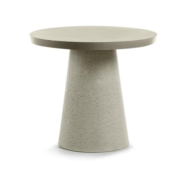 Măsuţă din ciment La Forma Rhette, ⌀ 90 cm, gri