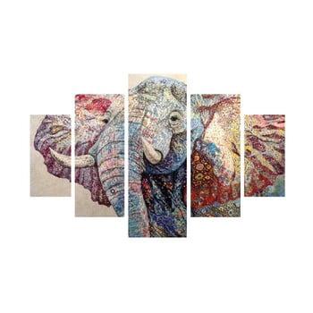 Tablou din 5 piese Elephant de la Unknown