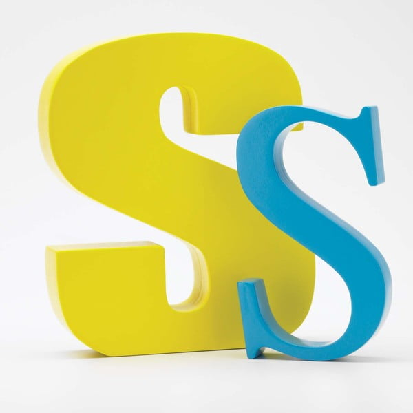 "Velké ""S"" 17x14 cm, žlutá"