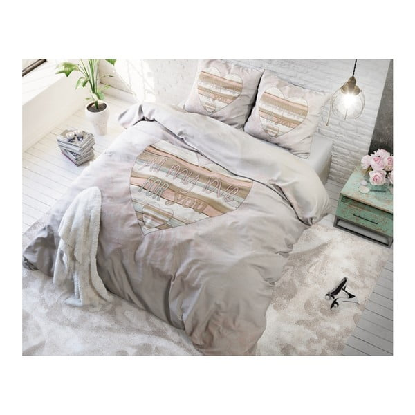 Povlečení z mikroperkálu na dvoulůžko Sleeptime All My Love,240x220cm