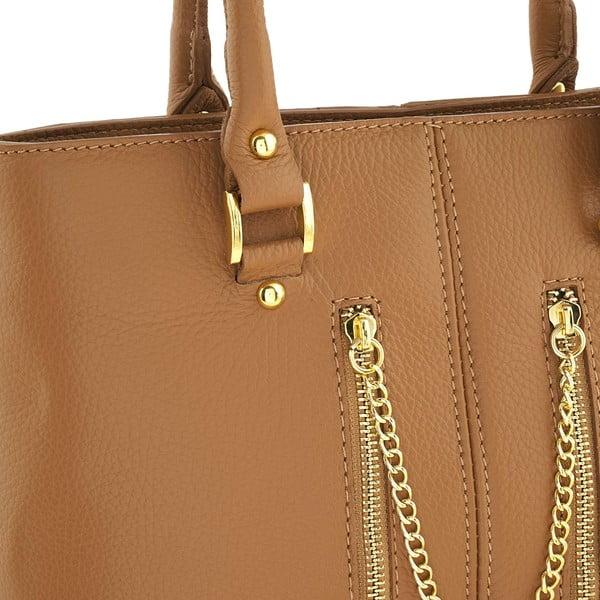 Kožená kabelka Bis Honey
