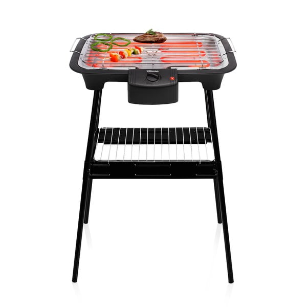 Černý elektrický stolní i stojanový gril Tristar, příkon 2000W