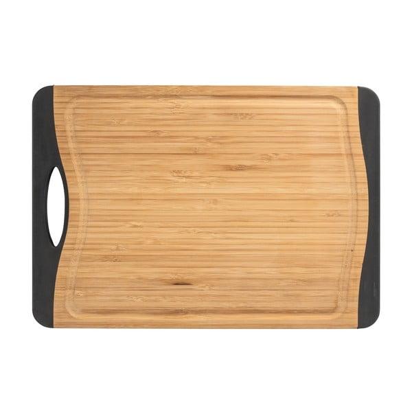 Antypoślizgowa deska do krojenia z drewna bambusowego Wenko, 39x28 cm