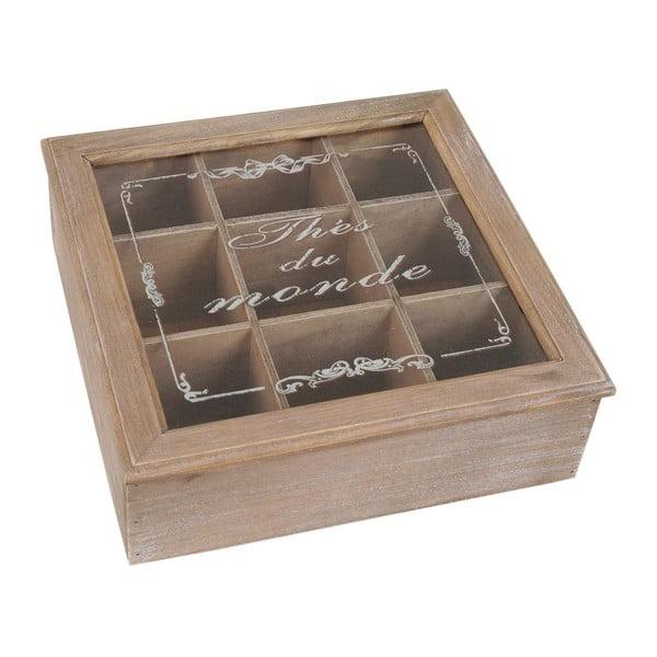 Dřevěný box Thés du Monde