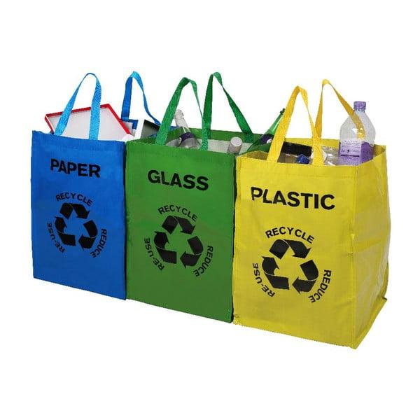 Set 3 sacoșe pentru materiale reciclabile Premier Housewares