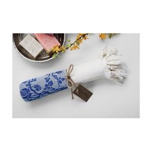 Hamam osuška Platin Blue, 100x180 cm