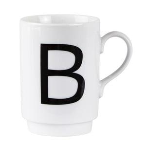 Porcelánový písmenkový hrnek B